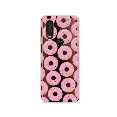 Capa para Moto One Vision - Donuts
