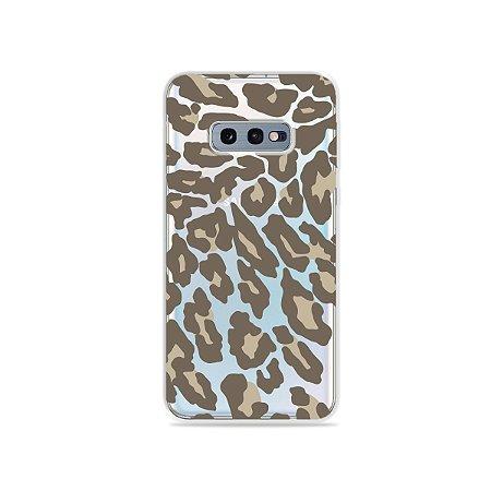 Capa para Galaxy S10e - Animal Print Nude