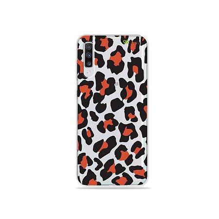 Capa para Galaxy A70 - Animal Print Red