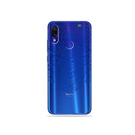 Capa para Xiaomi Redmi Note 7 - Mandala Azul