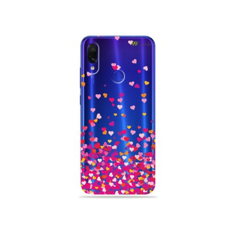 Capa para Xiaomi Redmi Note 7 - Corações Rosa