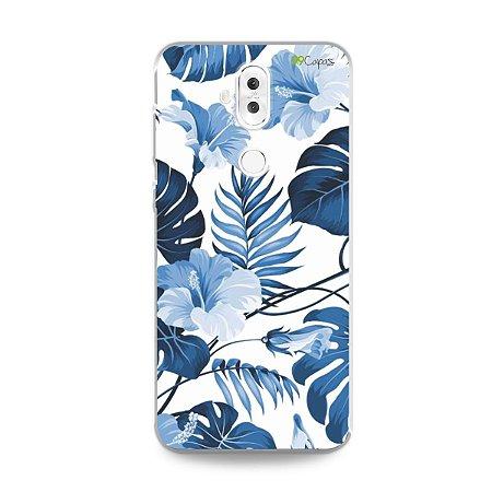 Capa para Zenfone 5 Selfie Pro - Flowers in Blue