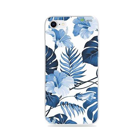 Capa para iPhone 8 - Flowers in Blue