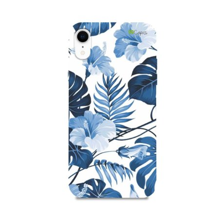 Capa para iPhone XR - Flowers in Blue