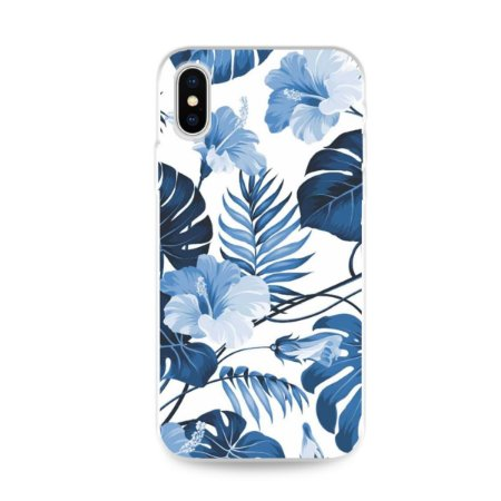 Capa para iPhone X/XS - Flowers in Blue