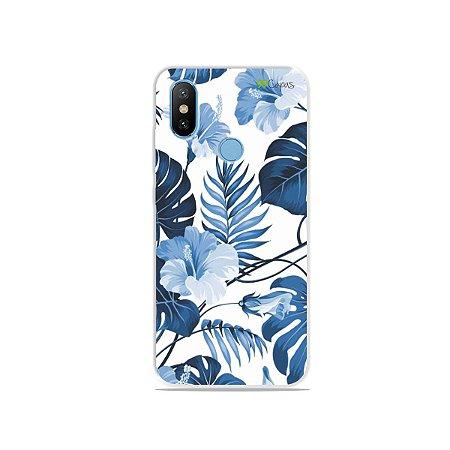 Capa para Xiaomi Mi 8 - Flowers in Blue