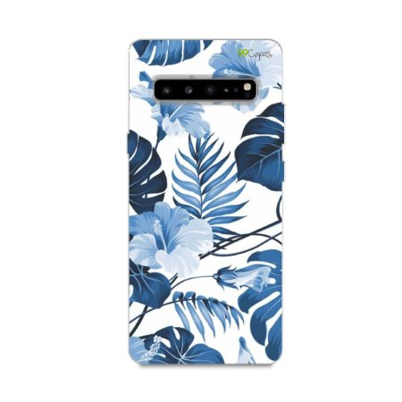Capa para Galaxy S10 - Flowers in Blue