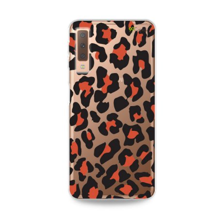 Capa para Galaxy A7 2018 - Animal Print Red
