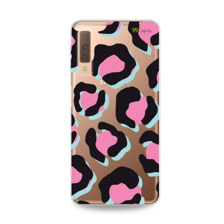 Capa para Galaxy A7 2018 - Animal Print Black & Pink