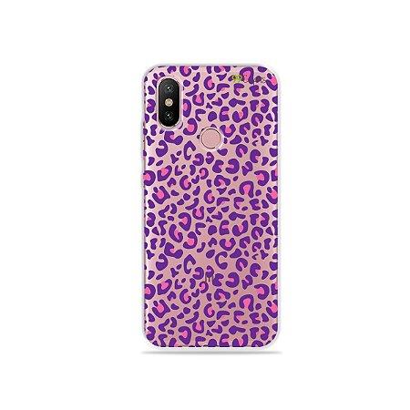 Capa para Xiaomi Mi A2 - Animal Print Purple