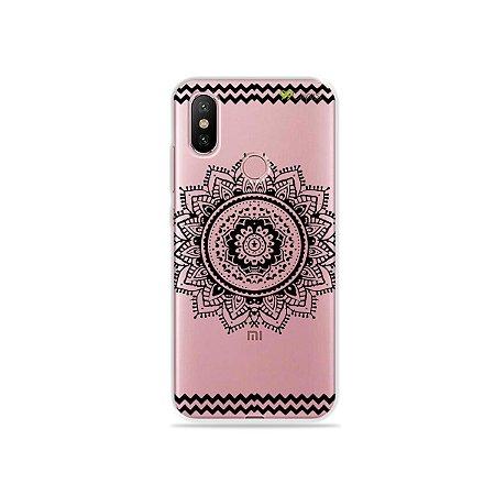 Capa para Xiaomi Mi A2 - Mandala Preto