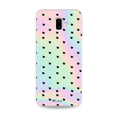 Capa para Galaxy J6 Plus - Holográfica Corações