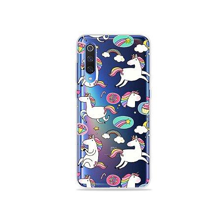 Capa para Xiaomi Mi 9 - Unicórnios Felizes