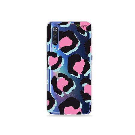 Capa para Xiaomi Mi 9 - Animal Print Black & Pink