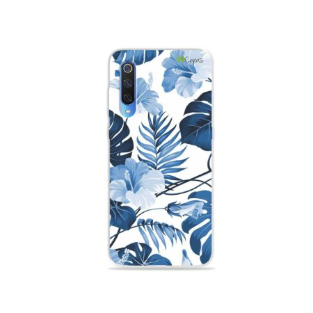 Capa para Xiaomi Mi 9 - Flowers in Blue