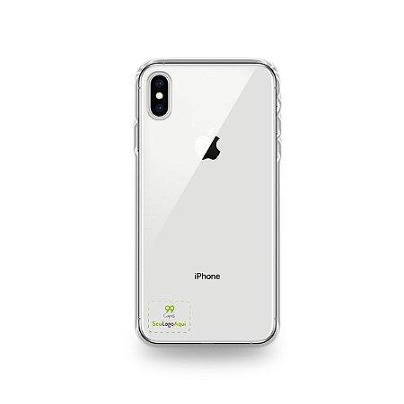 Capa Anti-shock transparente para iPhone com sua logo no canto inferior esquerdo