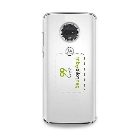 Capa Anti-shock transparente para Motorola com sua logo no meio