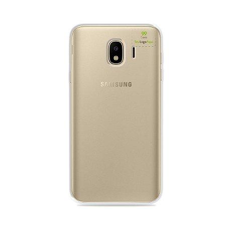 Capa Anti-shock transparente para Galaxy J com sua logo no canto superior direito