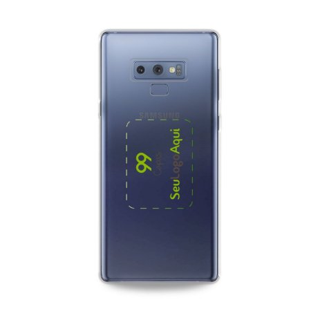 Capa Anti-shock transparente para Galaxy Note com sua logo no meio