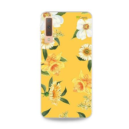 Capa para Galaxy A7 2018 - Margaridas