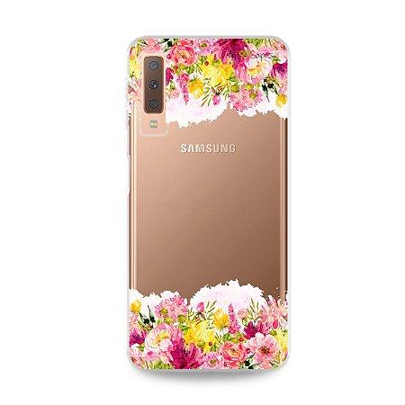 Capa para Galaxy A7 2018 - Botânica