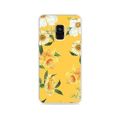 Capa para Galaxy A8 2018 - Margaridas