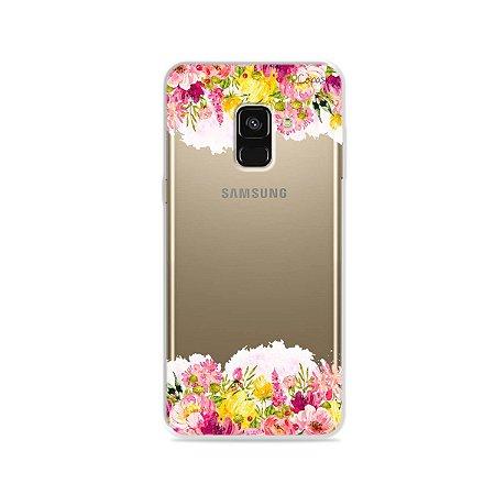 Capa para Galaxy A8 2018 - Botânica