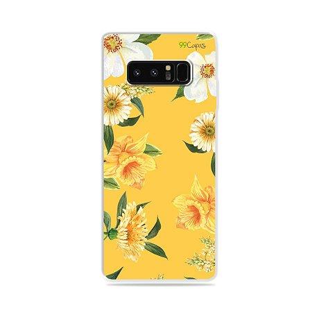 Capa para Galaxy Note 8 - Margaridas