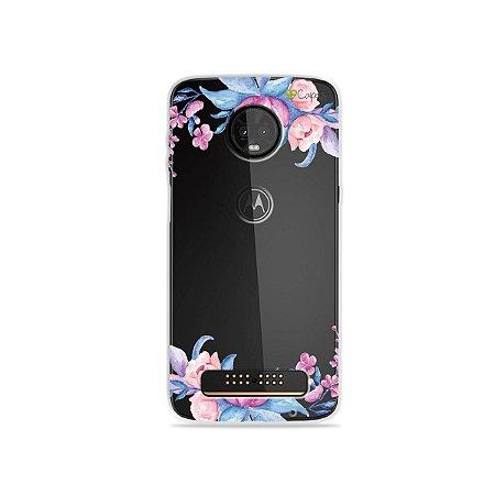 Capa para Moto Z3 Play - Bromélias