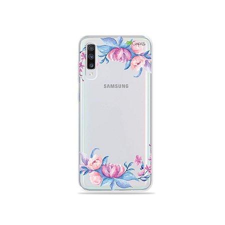 Capa para Galaxy A70 - Bromélias