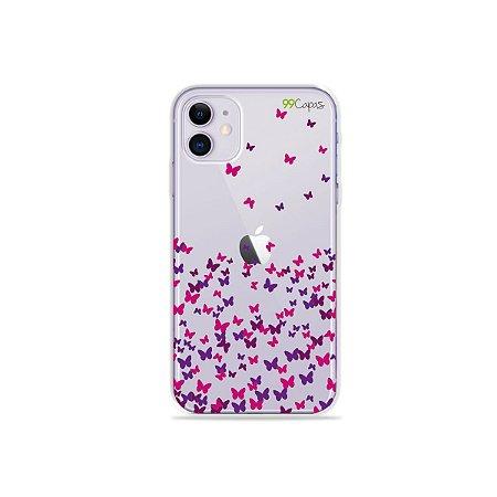 Capa para iPhone 11 - Borboletas Flutuantes