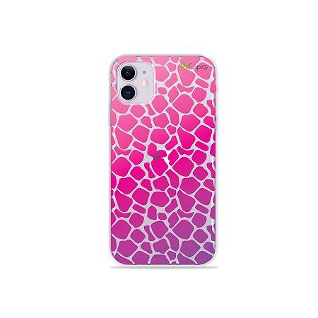 Capa para iPhone 11 - Animal Print Pink