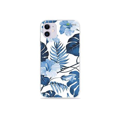 Capa para iPhone 11 - Flowers in Blue