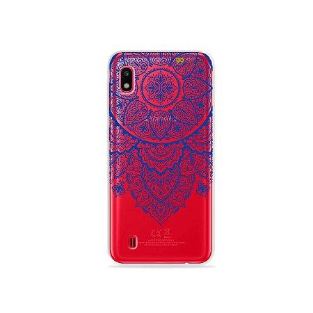 Capa para Galaxy A10 - Mandala Azul