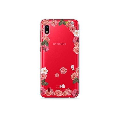 Capa para Galaxy A10 - Pink Roses