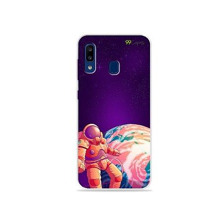 Capa para Galaxy A20 - Selfie Galáctica