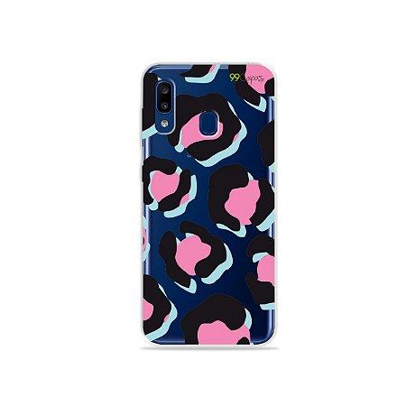 Capa para Galaxy A20 - Animal Print Black & Pink