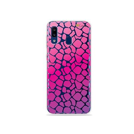 Capa para Galaxy A20 - Animal Print Pink