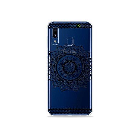 Capa para Galaxy A20 - Mandala Preta