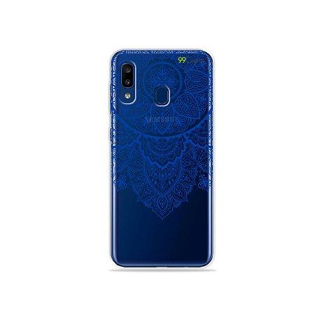 Capa para Galaxy A20 - Mandala Azul