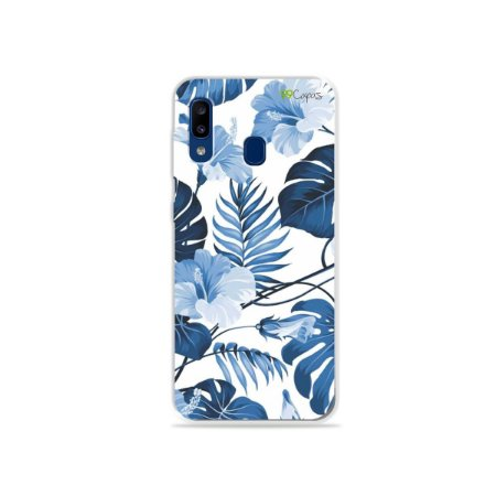 Capa para Galaxy A20 - Flowers in Blue