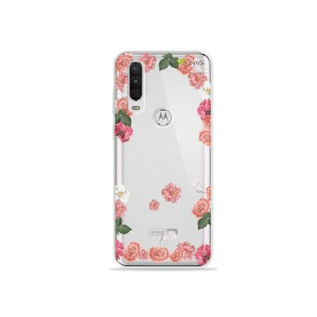 Capa para Moto One Action - Pink Roses