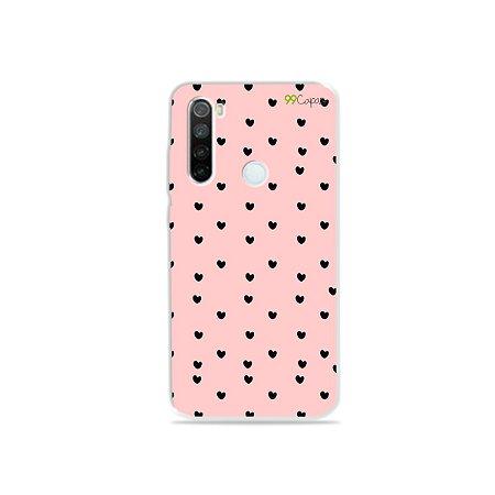 Capa para Xiaomi Redmi Note 8 - Corações Preto