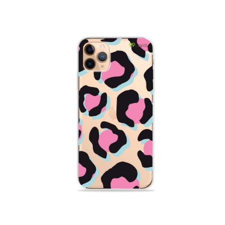 Capa para iPhone 11 Pro Max - Animal Print Black & Pink