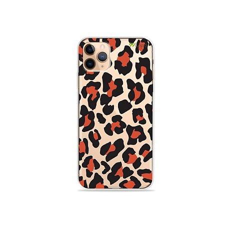 Capa para iPhone 11 Pro Max - Animal Print Red