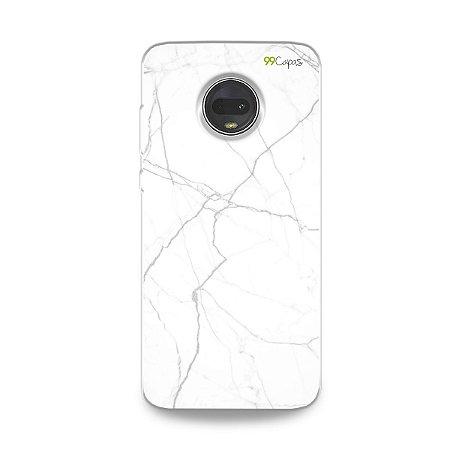 Capa para Moto G7 - Marble White