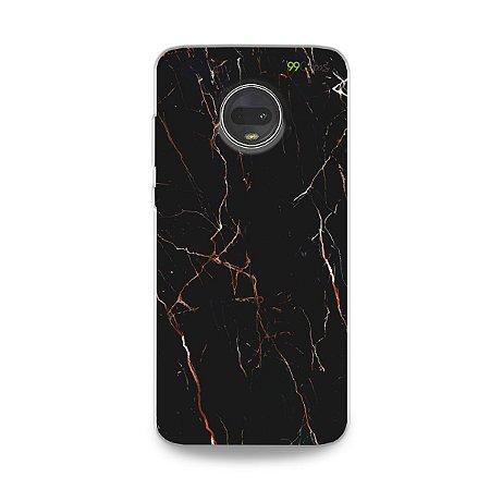 Capa para Moto G7 - Marble Black