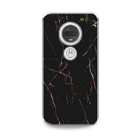 Capa para Moto G7 Plus - Marble Black