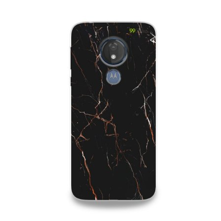 Capa para Moto G7 Power - Marble Black