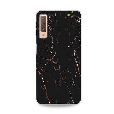 Capa para Galaxy A7 2018 - Marble Black